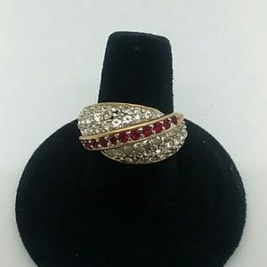 18K Gold Electroplated Size 8 Ring